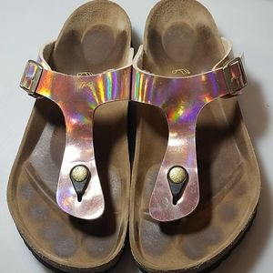 Birkenstock Rose Halogram Thong Sandals